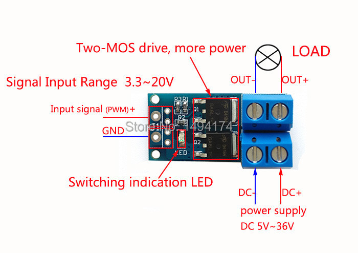 Computer & Office Wqscosea Q8s-228 15a 400w Mos Fet Trigger Switch Drive Module Pwm Regulator Panel Direct Current Control Board Fr Solenoid Valve