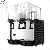 XEOLEO Double tank Juice Dispenser 2*15L Commercial Cold Drink machine Beverage Dispenser Mix type Cold Drink dispenser 220V