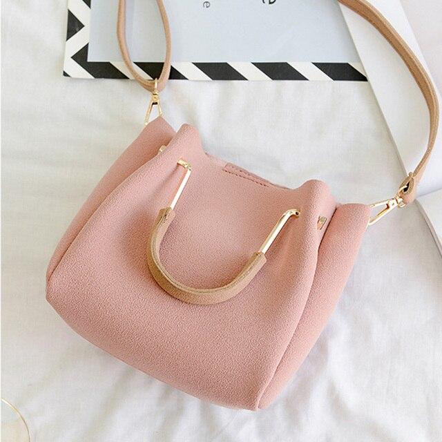 308969a58378 US $33.76 |W Luxury Brand Designer Bucket bag Women Leather Wide Strap  Shoulder bag Handbag Large Capacity Crossbody bag Color 3-in Top-Handle  Bags ...