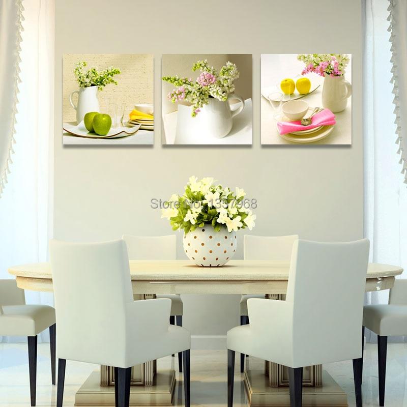 Kitchen Canvas Wall Decor: 3 Panel Canvas Art Fruits Kitchen Canvas Painting Large