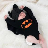 Baby Girl Knitted Clothes Fashion Black Newborns Bebes Flying Sleeve Bodysuits Autumn Winter Outwear Toddler Kids Jumpsuits Tops