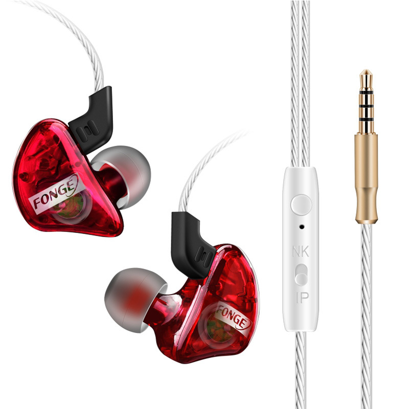 Fonge T 01 Headphone Running Sports In Ear Earphone With Microphone Noise Cancelling Bass Headsets fone