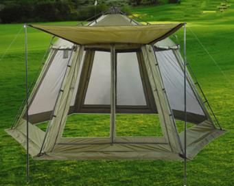 5 6 8 10 Person Anti Rain Wind Proof Hexagon Family Gazebo