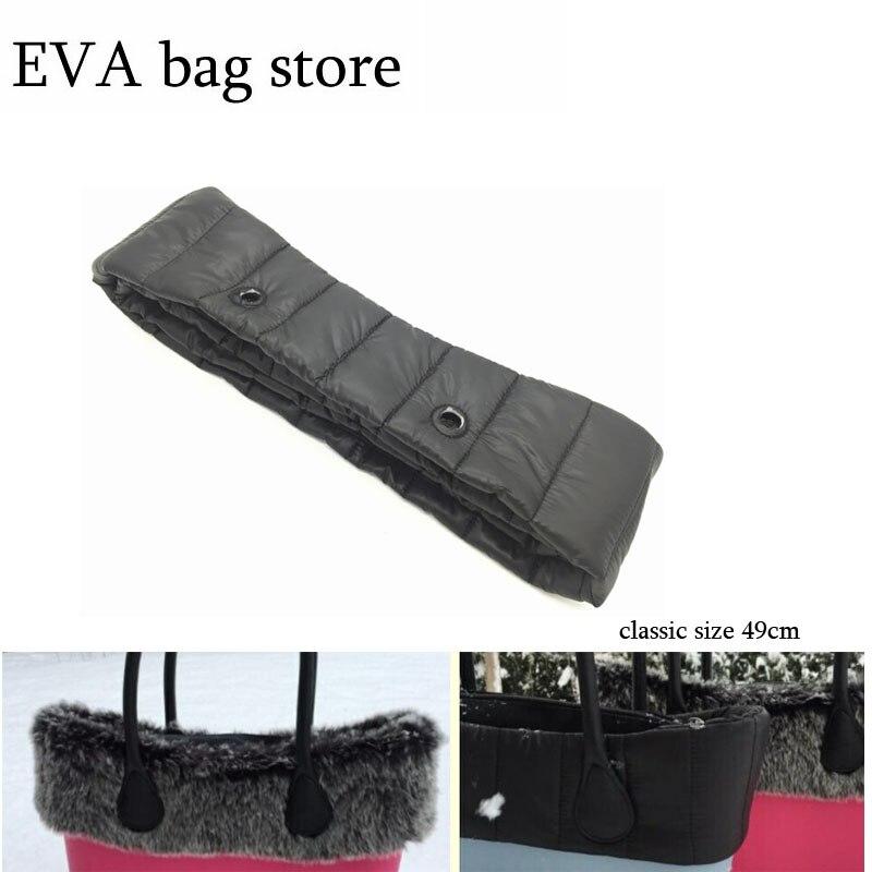 Quilted Trim Fashion Women Bag New Size Fur Trims Plush Decoration For Obag  Classic Size  Plush Decoration Handbag Women