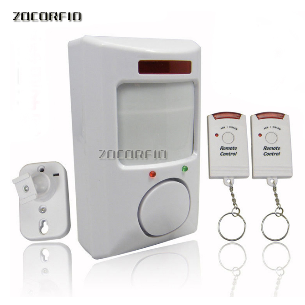2 remote control infrared alarm /home alarm /remote burglar alarm infrared electronic dog new special цена