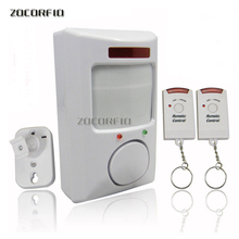 Alarma infrarroja con 2 mandos a distancia, alarma de casa, alarma antirrobo remota, perro electrónico infrarrojo