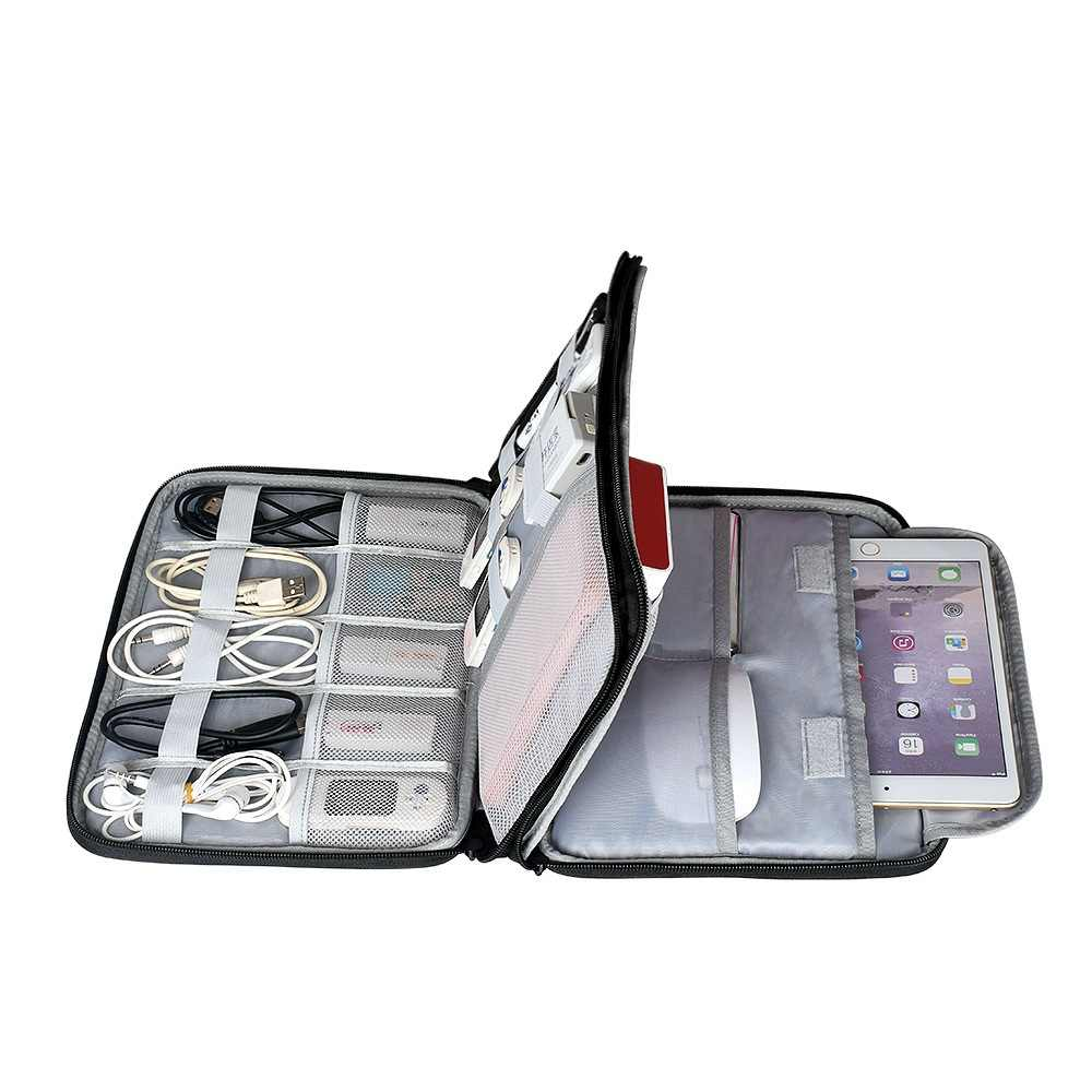 Hard Disk Accessories Carry Bag Gadget Bag Travel Cable Case Electronics Organiser for Chargers Cables Powerbank Hard Drive