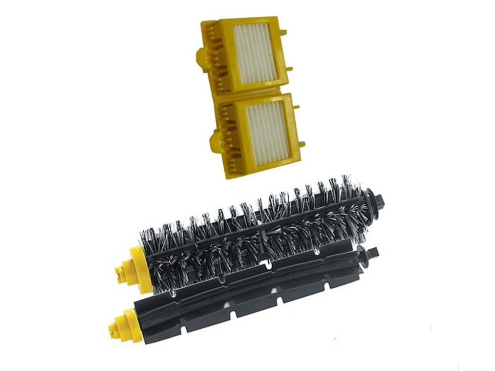 2x HEPA Filter + 1 Bristle and Flexible Beater Brush for iRobot Roomba 700 Series 770 780 790 Cleaer Accessory sidebrush bristle and flexible beater brush for irobot roomba vacuum cleaner parts 700 series 770 780 790