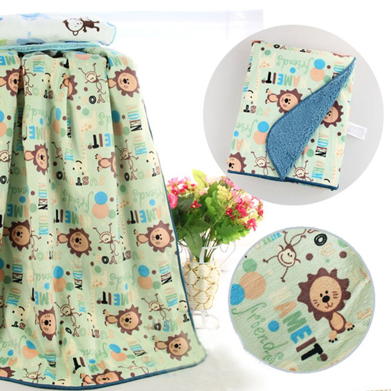 Baby Layer Fleece Infant Swaddle Envelope font b Stroller b font Wrap Blankets Thicken Baby Bedding