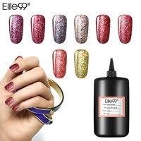 Elite99 30 цветов 250 мл Блестящий Звездный лак для ногтей отмачиваемый УФ-маникюрный клей Полупостоянный лак