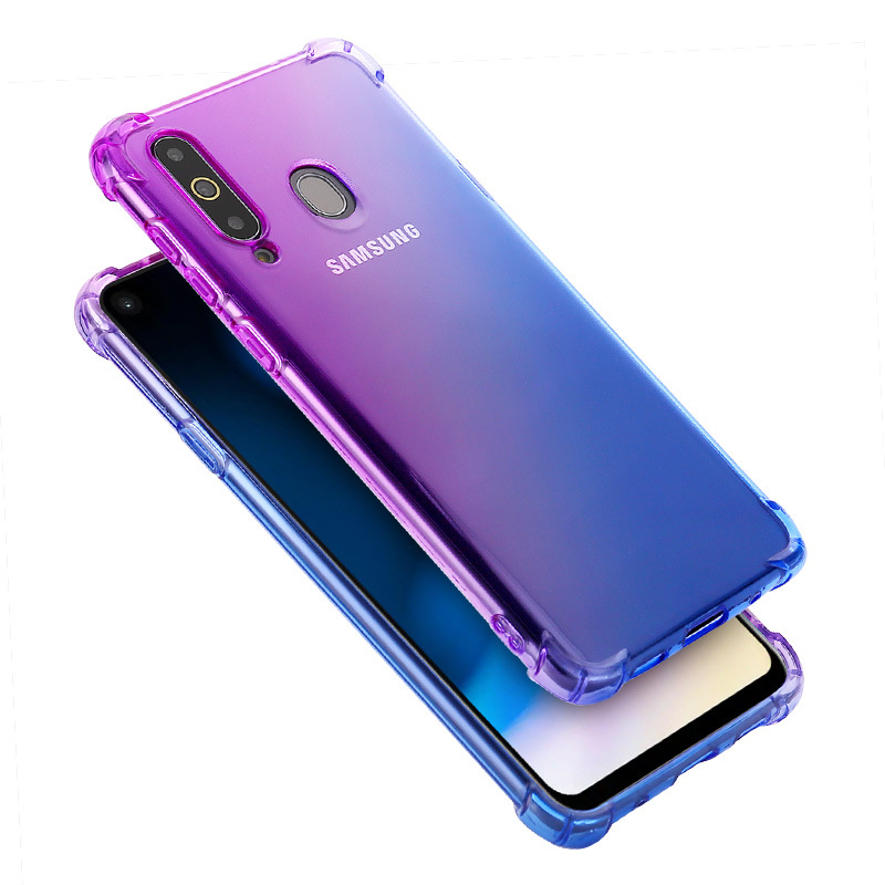 100pcs lot For Galaxy A50 A30 A40 A10 A70 ShockProof TPU Case Gradient TPU Gel Case
