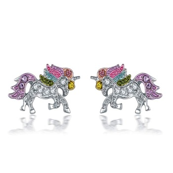 Dazzling Unicorn Licorne Stud Earrings