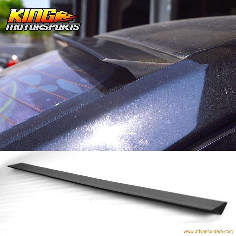 For 2015-2016 Chevrolet Cruze 4Dr VRS Style Roof Spoiler Unpainted Black - PUF hiper vrs