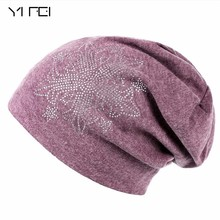 YIFEI 2017 Women's Winter Hat Knitted Wool Beanies Female Fashion Skullies Casual Outdoor Ski Caps Thick Warm Hats For Women