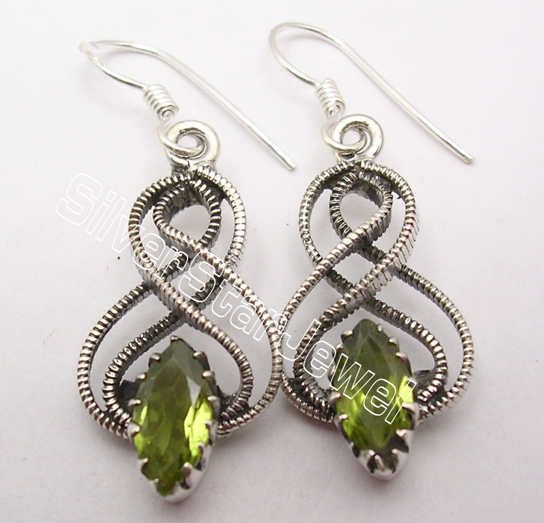 sterling stone studs il peridot earrings silver etsy market round prong
