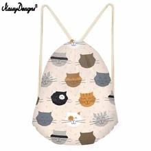 3D Cartoon Cat Drawstring Bag Backpack For Children Travel Storag Backpack Girls Daily Sport Bags Drop Shipping Kids String Bags