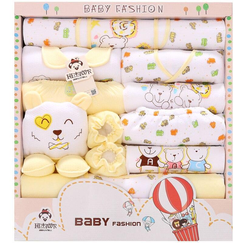 18 Piece100% Cotton Baby Boy Clothing Set Autumn Winter Thick Girls Clothing Sets Baby Fashion Newborn Gift Set lnfant Undwear