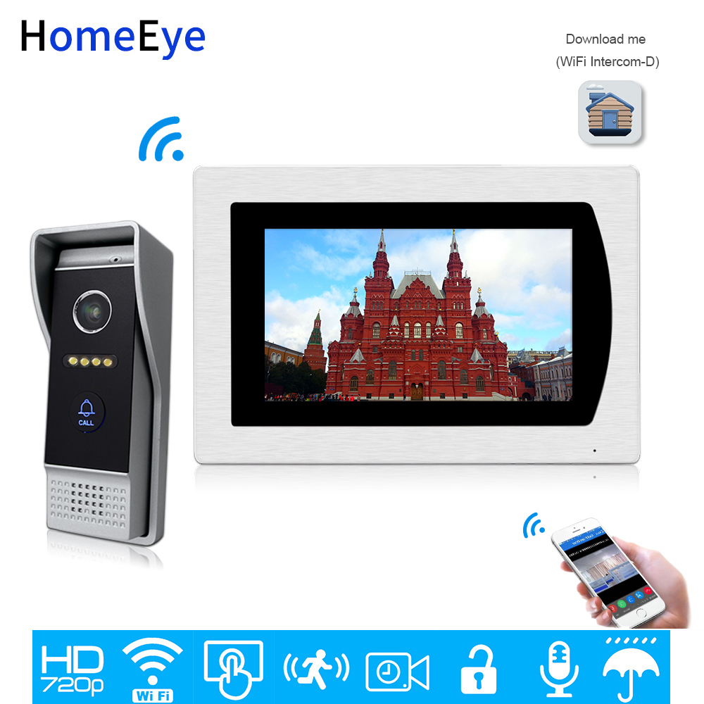 Wholesale 7'' 720P WiFi IP Video Door Phone Video Intercom Home Access Control System Android IOS App Remote Unlock Touch Screen image