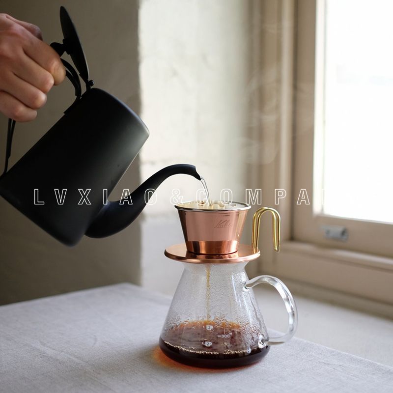 1-2/2-4 cups copper/ stainless coffee dripper kalita Hand Coffee Filters
