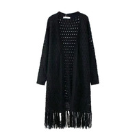 Early Autumn Europe Style New Women S Long Coarse Wool Sweater Knitted Cardigan Coat All Match