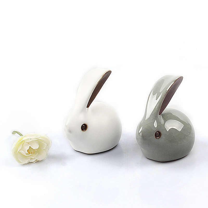 Чайные украшения для домашних животных Gekio кролик чай сувенир креативный чайный набор кунг-фу бутик Зодиак мини домашний декор украшения керамическое украшение