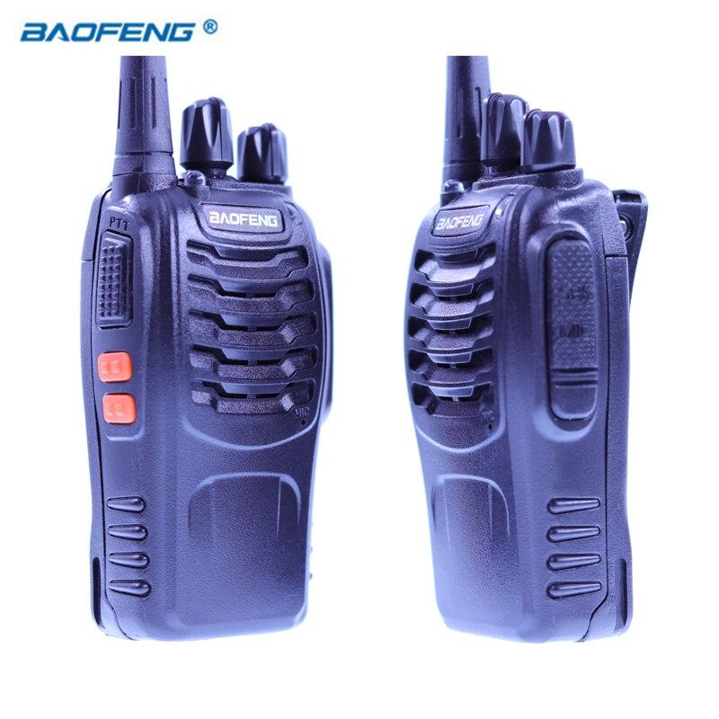 2 STÜCKE Baofeng BF-888S Walkie Talkie Radio Tragbare Transceiver UHF CB Radios SCHINKEN BF 8 S Communicator Stereo