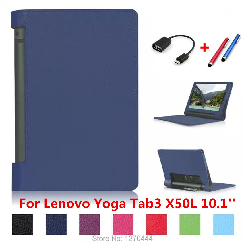 10.1'' Top Quality smart Case For Lenovo tab3 YOGA X50L Leather Case Tablet 10 cover For Lenovo YOGA Tab3 X50L 10.1inch tablets ultra thin smart flip pu leather cover for lenovo tab 2 a10 30 70f x30f x30m 10 1 tablet case screen protector stylus pen