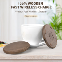 KEYSION 10W Qi Fast Wireless Charger for iPhone XS Max XR 8 Plus Wireless Charging Wood Desktop Pad for Samsung S10 Xiaomi mi 9(China)