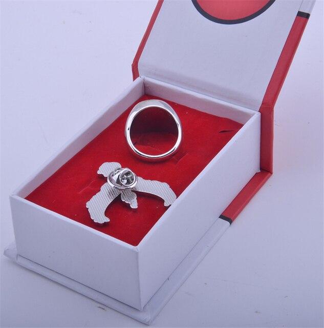 Аниме кольцо и брошка Покемон Го 1