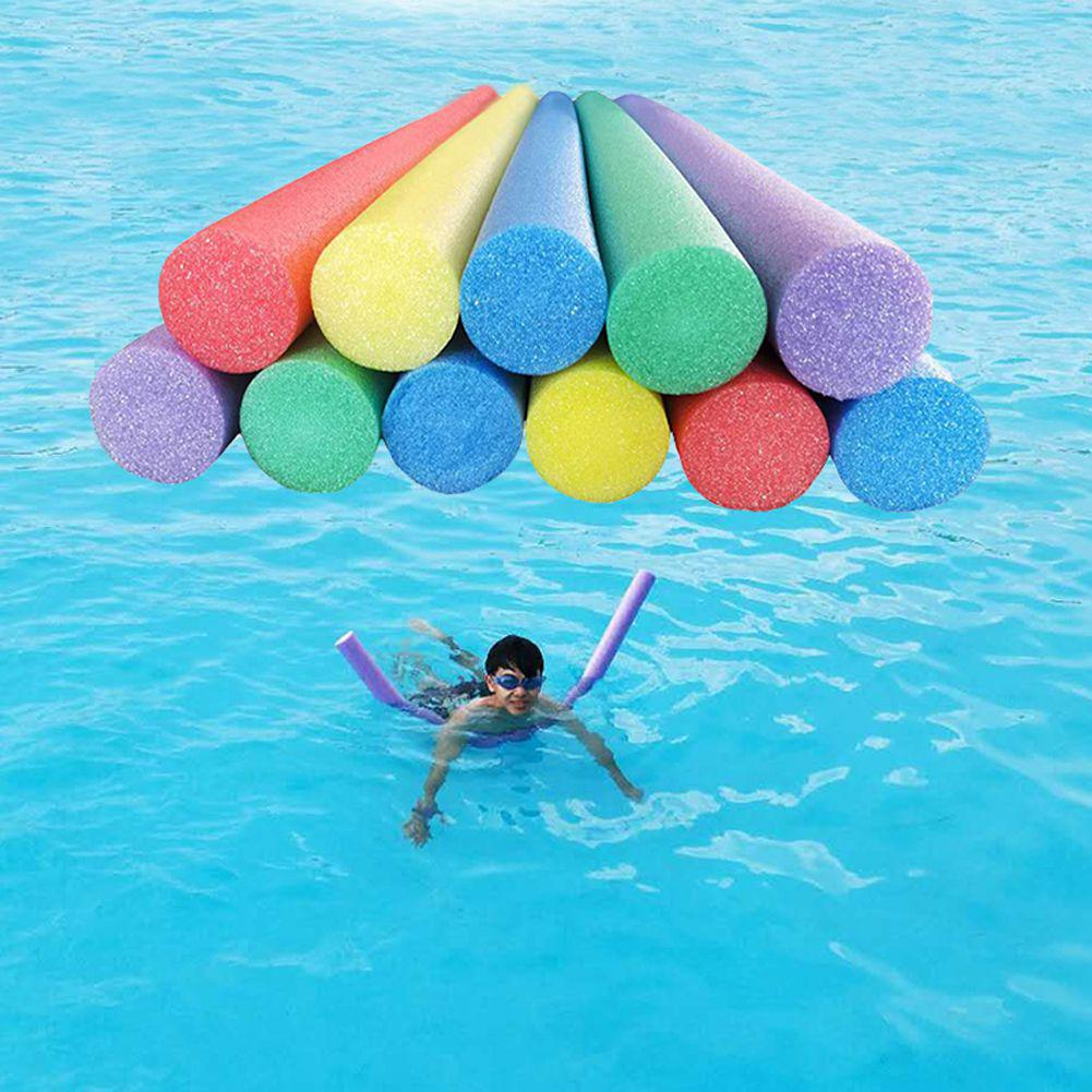 Flexible Colorful Solid Foam Pool Noodle Swimming Water Float Aid Woggle Noodle Floating Lifebuoy Kids Swimming Pool Accessories