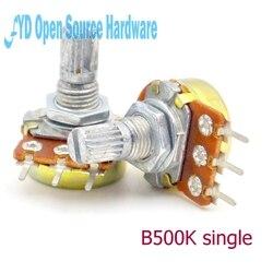 Potenciómetro amplificador de Junta Única, B500K L: WH148 15MM, 10 Uds.