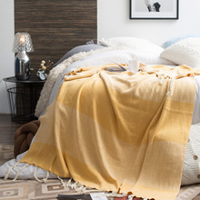 New Cotton Gray,Yellow Plaid Knit Blankets for Sofa/Bed/Home Winter Sofa Cover Bedspread Christmas Years Products Navidad