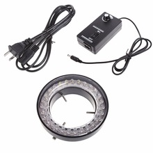 цена на EU Plug US Plug 60 LED Adjustable Ring Light illuminator Lamp For STEREO ZOOM Microscope Source
