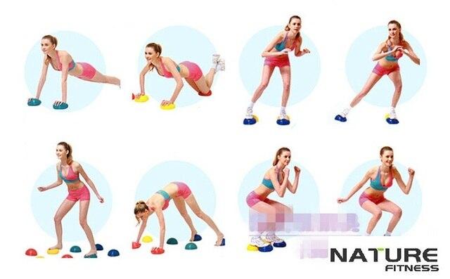 9f7af438df Yoga meia esfera da ginástica da aptidão física aparelho massagem ponto de equilíbrio  bola exercício stepping