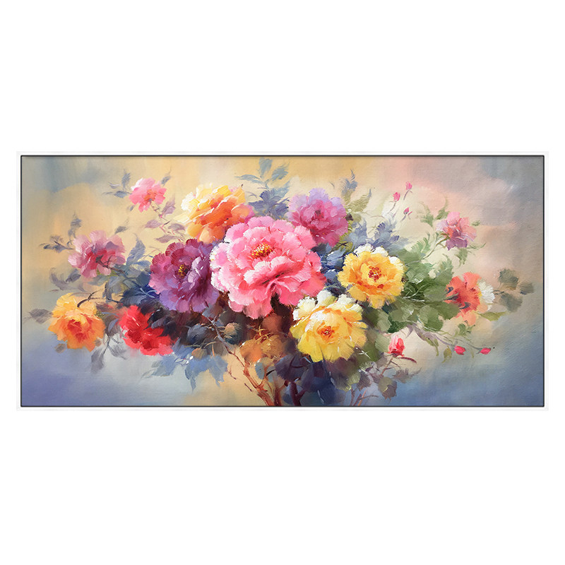 100 Hand Painted Modern Flower Art Oil Painting On Canvas Wall Art Wall Adornment Pictures Painting For Live Room Home Decor in Painting Calligraphy from Home Garden
