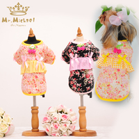Holiday Pet Dress Princess Lace Teddy Yorkshire Dog Dress Clothes Spring Loaded Sale