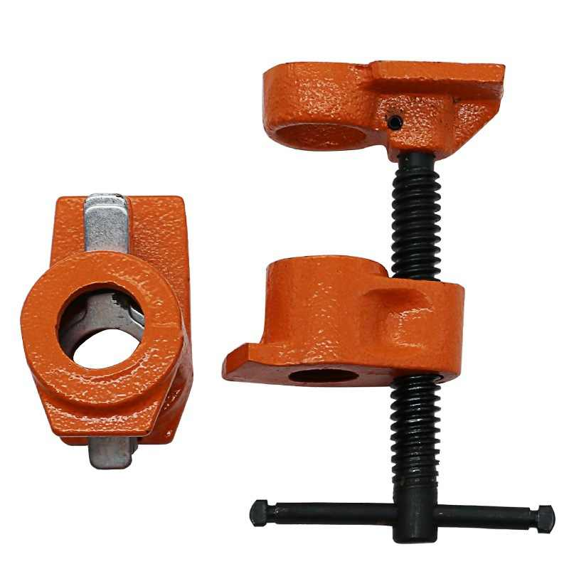 1/2 inch Heavy Duty Pipe Clamp Woodworking Wood Gluing Pipe Clamp Pipe Clamp Fixture Carpenter Woodworking Tools