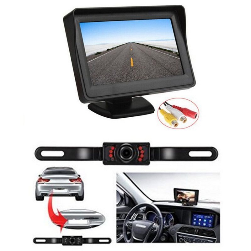 TFT LCD Monitor Parking Camera 7 Night Vision LED Rearview Mirror Car DVR Professional Waterproof Auto Car Dash Parking Camera-in DVR/Dash Camera from Automobiles & Motorcycles