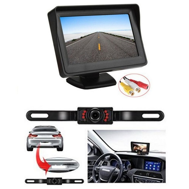 TFT LCD Monitor Parking Camera 7 Night Vision LED Rearview Mirror Car DVR Professional Waterproof Auto Car Dash Parking Camera