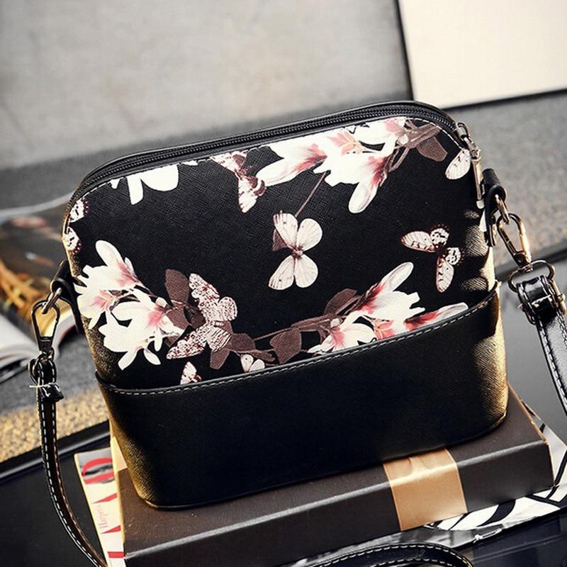 Korean Floral Print Small Shell Women Crossbody Messenger Bags Handbags Purses Sling Ladies Shoulder Bags Clutch Bolsa 2017
