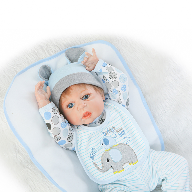 New 55cm Full Silicone Reborn Boys Babies Doll Play House Toys Lifelike Newborn Baby Doll Kids Birthday Present Gift Bathe Toy full silicone body reborn baby doll toys lifelike 55cm newborn boy babies dolls for kids fashion birthday present bathe toy