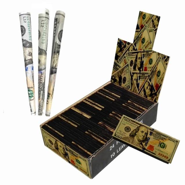 10 pz/scatola Dollaro sigaretta di carta Classico Fumo di Carta per il Fumatore