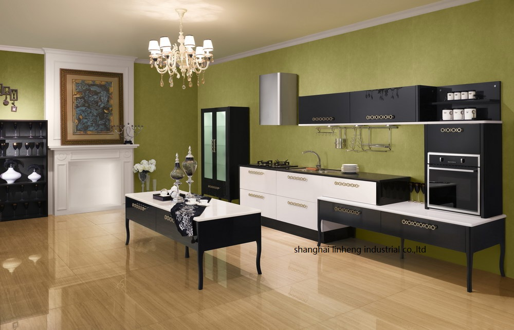 High Gloss/lacquer Kitchen Cabinet Mordern(LH-LA066)