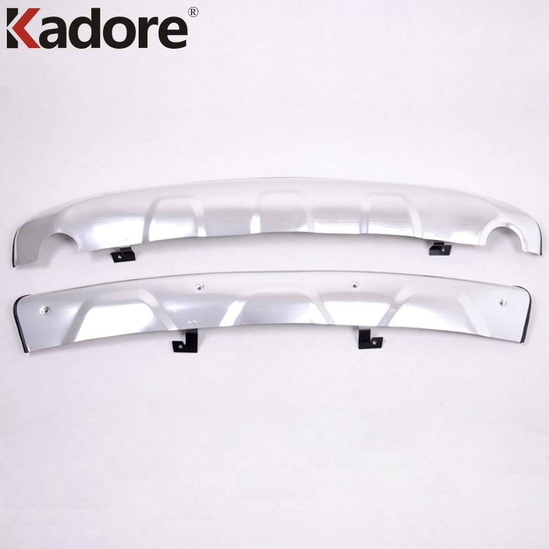 For Hyundai ix35 Tucson 2010 2011 2012 Auto Front&Rear Bumper Protector Skid Plate Cover Aluminum Alloy Car Accessories 2PCS/SET for hyundai new tucson 2015 2016 2017 stainless steel skid plate bumper protector bull bar 1 or 2pcs set quality supplier