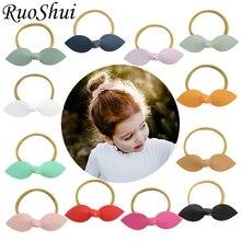 4 дюймовые резиновые банты для волос для девочек Детские эластичные резинки для волос бутик ручной работы Soild бант на резиновом ремешке бант аксессуары для волос
