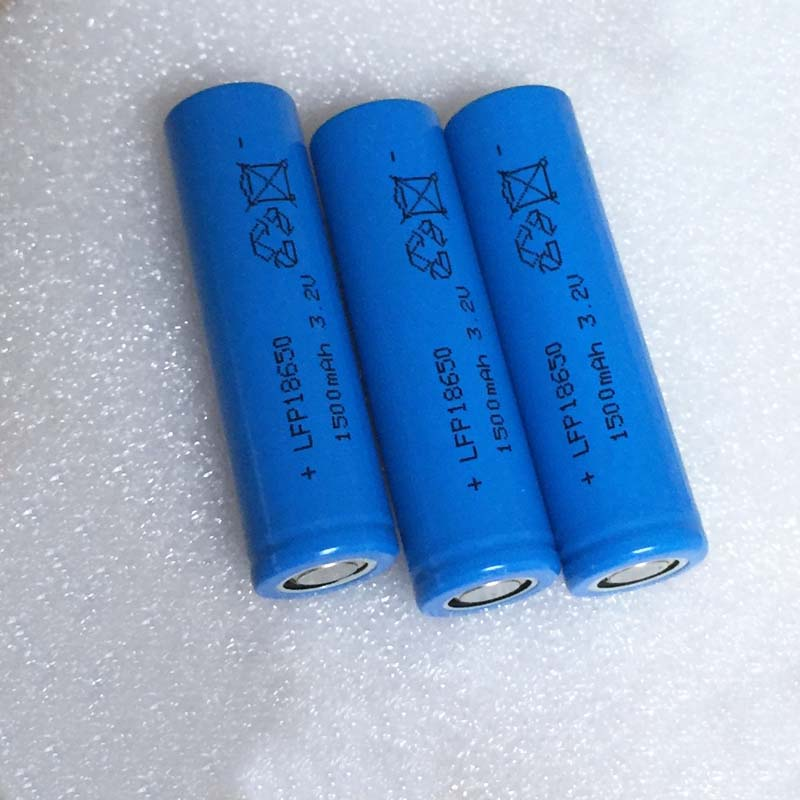 10pcs 3 2v Ifr 18650 Lifepo4 Battery 1500mah Rechargeable