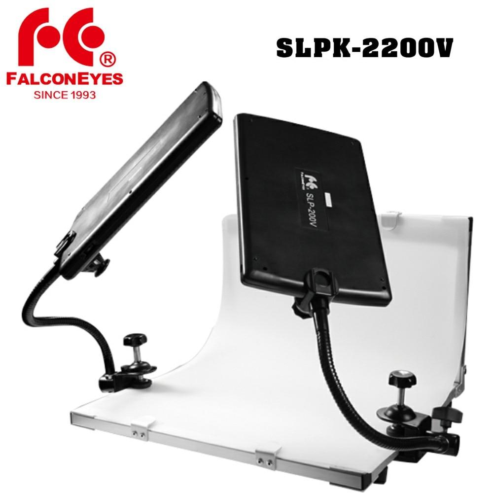 Falcon Eyes Slpk-2200v Mini Led Licht Met Vouwen Schieten Station Opnamestudio Stilleven Tafel Achtergrond Pvc Plaat Tafel