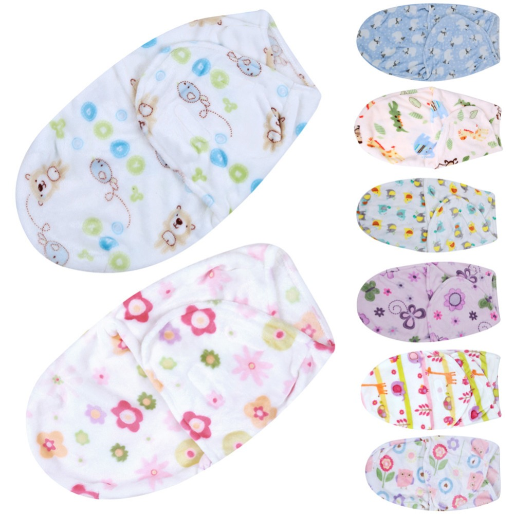 Lovely Baby Swaddle Wrap Soft Envelope Baby Blankets Newborn Swaddle Wrap Infant Sleeping Bag Warm Baby Bedding Blanket For 0-6M baby blankets newborn cute heart shape knitting blanket soft infant bedding baby blanket sleeping knitted wrap for 0 6y age
