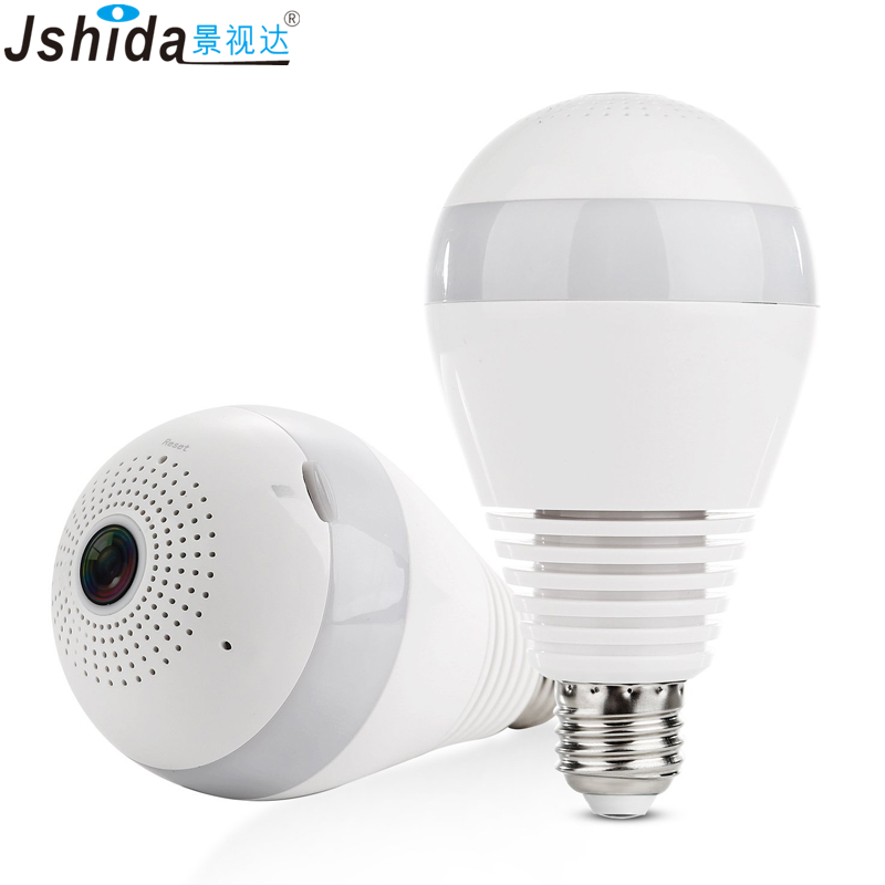 960P HD Wireless WiFi IP Camera 360 Degree Panoramic Light Bulb Home Security Camera Support Two Way Voice Intercom IPY100 hd 960p wireless ip camera two way intercom pan