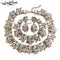 Ladyfirst za marca gem vintage blanco ab color crystal choker collar chunky collar llamativo lujo maxi maxi collier 3281